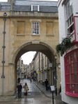 Bath - Trim St, where Jane Austin lived after her father's death, leading into Queen St