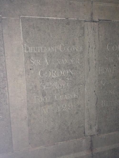 Sir Alexander Gordan's grave at Evere