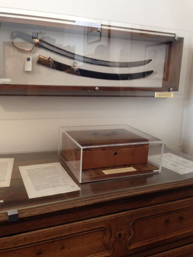 This is Sir Alexander's Saber kept in the Inn at Waterloo, now the Wellington Museum