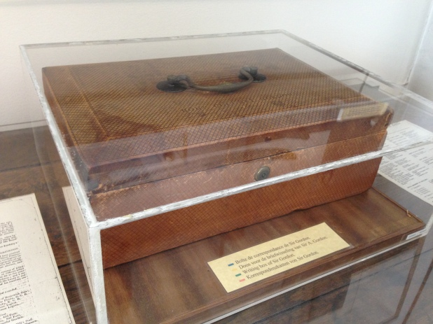 This is Sir Alexander Gordan'swriting box