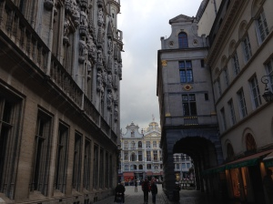 The streets of Brussels the men would have gathered and marched through