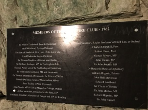 The members of the Hellfire Club in 1762