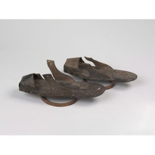 Clogs held by the Victoria and Albert Museum